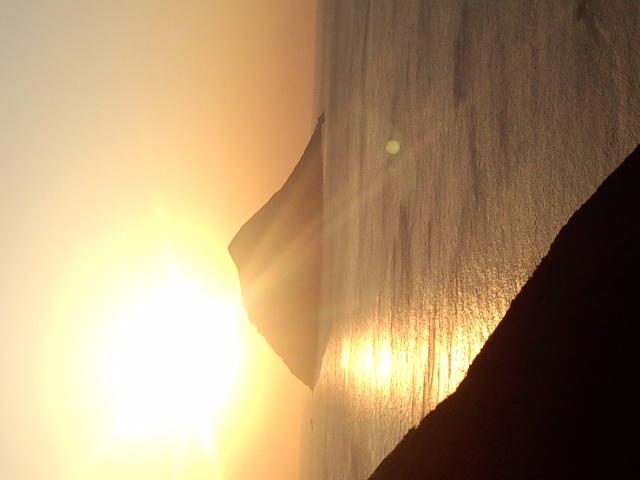八丈小島の夕日