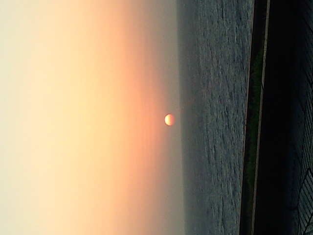八丈の夕日